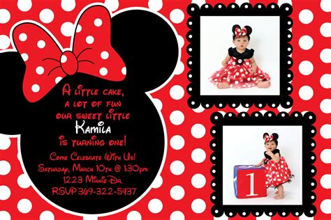 red  black minnie mouse invitations templates