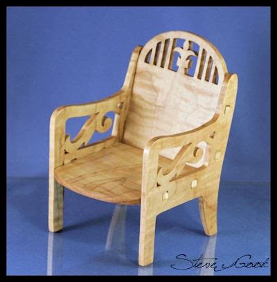 scrollsaw workshop fretwork doll chair scroll  pattern