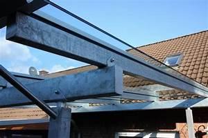 überdachung Selber Bauen Metall : vordach aus leimbindern stahl feuerverzinkt und vsg 16 mm ~ Frokenaadalensverden.com Haus und Dekorationen