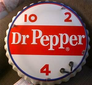 Vintage Dr Pepper Neon Sign stout sign pany bottle Cap