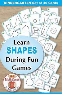 2d And 3d Geometric Shapes  40 Math Cards With Games Guide