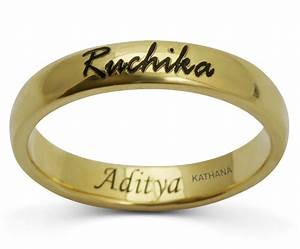 brilliant engagement rings name engraved matvukcom With wedding ring with names
