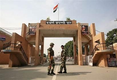 Border India Wagah Pakistan Between Called Amritsar