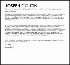 landscape architecture cover letter sample livecareer With cover letter for architect position