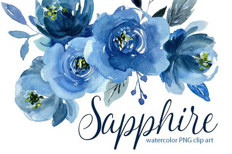 watercolor indigo blue roses flowers bouquets   wreath  watercolorflowers thehungryjpegcom