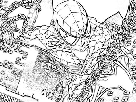 dibujos de spiderman  colorear  kids page