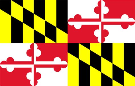 md design flags of the fifty states maryland