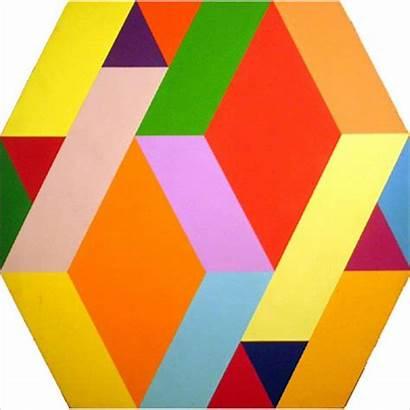 Geometric Painting Acrylic Optical Figures Abstract Geometry