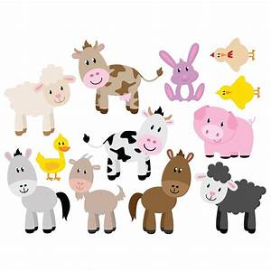 farm animal set of 12 wall stickers wallstickerscouk With cutest farm animal wall decals