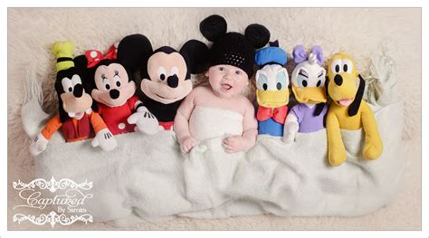 disney inspired baby photography photo shoot mickey mouse