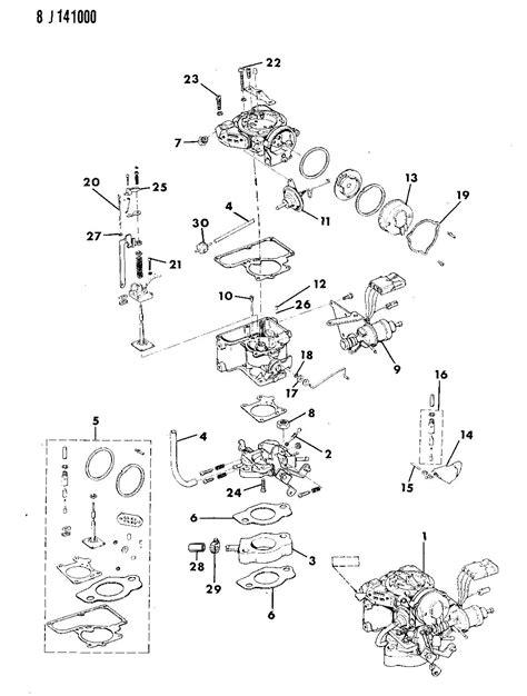 1987 Jeep Wrangler Engine Diagram by Carburetor And Component Parts 2 5l Engine Wrangler