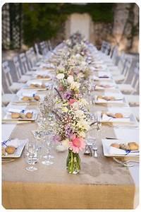 Deco Salle Mariage Champetre : id e d coration table mariage mariage d co table pinterest decoration table mariage ~ Voncanada.com Idées de Décoration