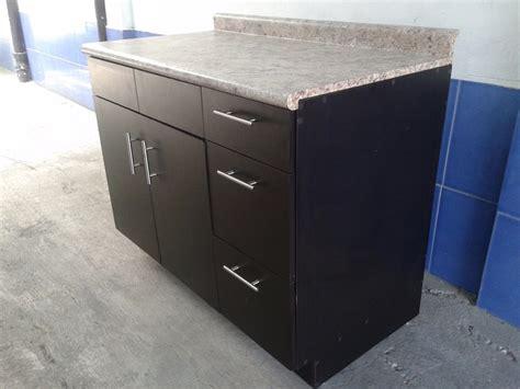 modulo gabinete  fregadero nuevo color chocolate