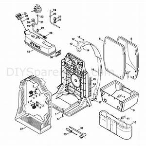 Stihl Br 380 Backpack Blower  Br 380  Parts Diagram  Backplate