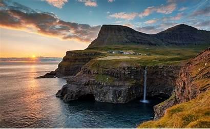Gasadalur Faroe Islands Sunset Deviantart Must Linsenschuss