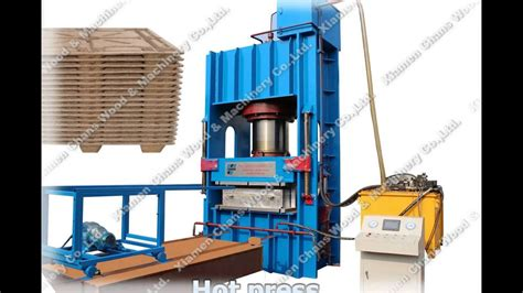 presswood press compressed molded wood pallet making