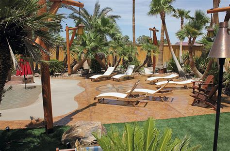 Backyard Sand by Concrete Quot Quot And Sand Finishes In A Themed