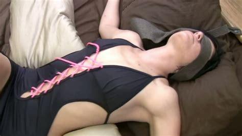 Bound Blindfolded Girl Gets Her Shaved Pussy Fingered In