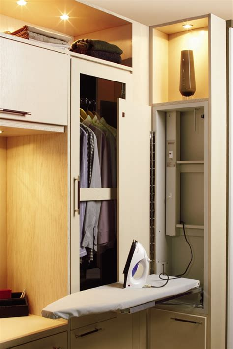 Ironing Board Cabinets  Pullout Hamper  Wellborn