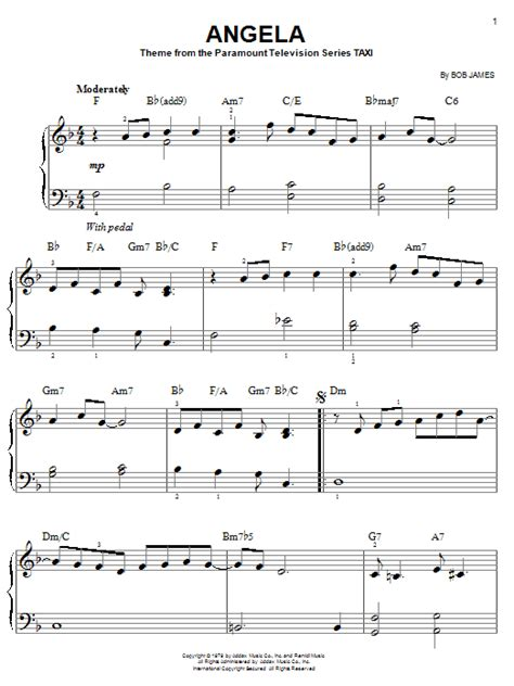 eb bb ab fm cm f gm ➧ chords for taxi theme song with song key, bpm, capo transposer, play along with guitar, piano, ukulele & mandolin. Angela (theme from Taxi) piano sheet music by Bob James - Easy Piano