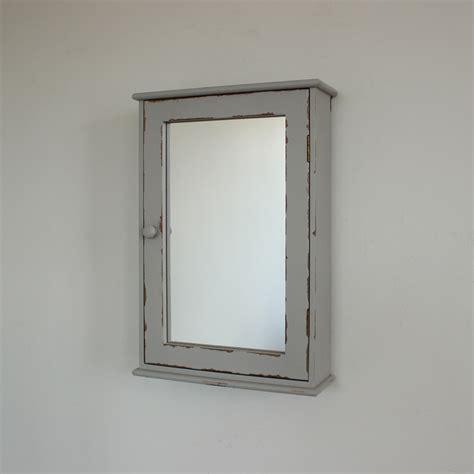 shabby chic mirrored bathroom cabinet grey mirrored wall cabinet distressed bathroom 24099