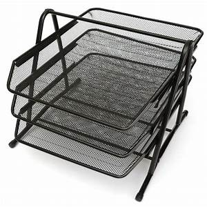 3 tier office barbed wire file tray mesh desk tray With letter tray wire