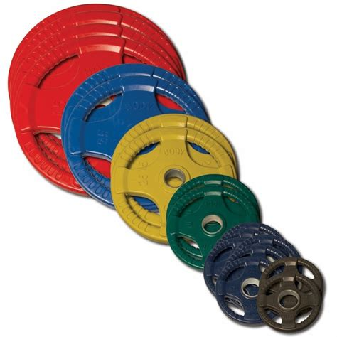body solid colored rubber olympic weight plate set lbs