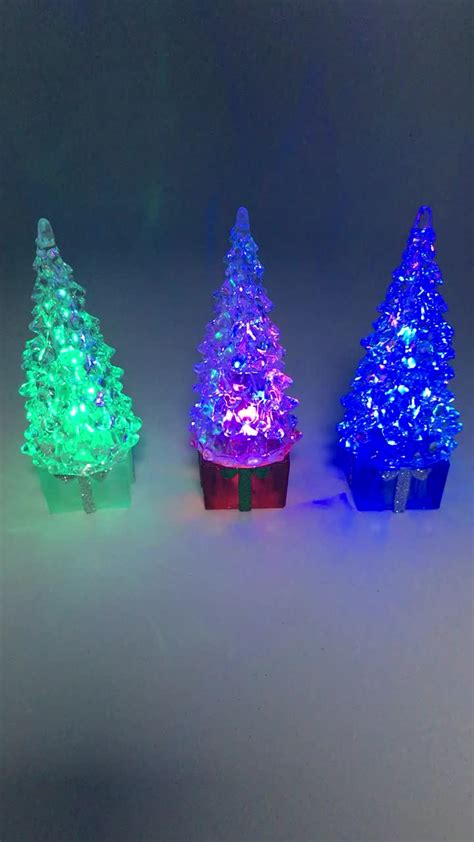 color changing led lighted acrylic christmas tree