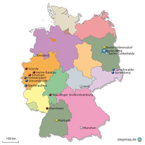 stepmap kraftwerke  deutschland landkarte fuer