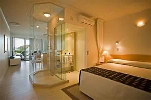 Petite Salle De Bain Ouverte Sur Chambre : la salle de bains ouverte veut se populariser ~ Melissatoandfro.com Idées de Décoration