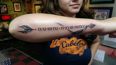 unique roman numerals tattoo  speaks
