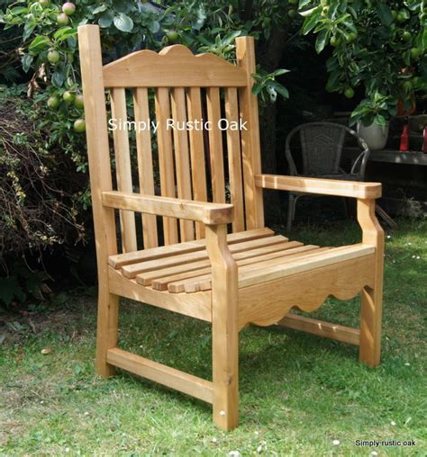rustic oak large garden carver chair simply rustic oak