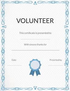 free volunteer appreciation certificates signupcom With volunteering certificate template