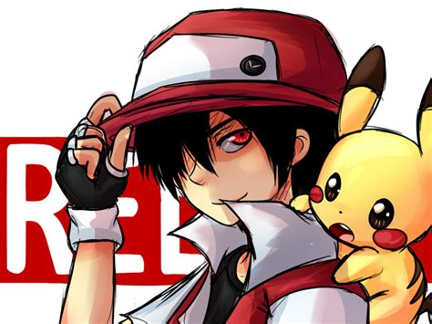 pokemon trainer red wallpapers wallpaper cave