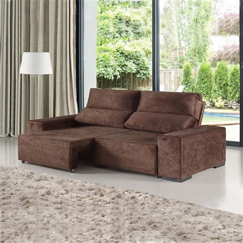 sofa retratil  reclinavel  lugares confort chocolate mobilarte  bom vale  pena