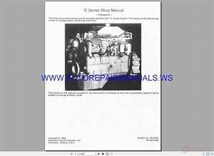 Cummins C Series Engine 6c8 3 6ct8 6cta8 3 Shop Manual
