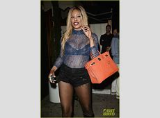 Full Sized Photo of laverne cox sheer shirt nice guy weho