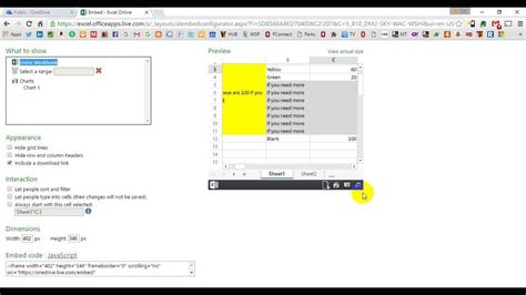 interactive excel spreadsheet website with embed interactive excel spreadsheet in web page