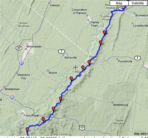 Appalachian Trail Virginia Map