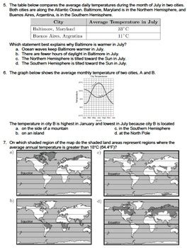 worksheet climate factor latitude editable tpt