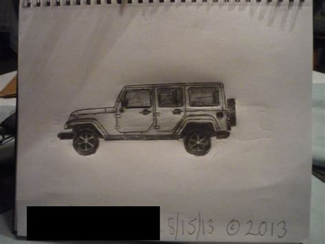 4 door jeep drawing the gallery for gt jeep wrangler drawing