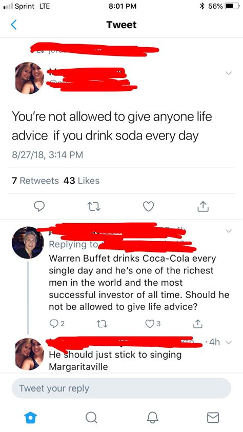Looks like we shouldn't take advice form her! : facepalm