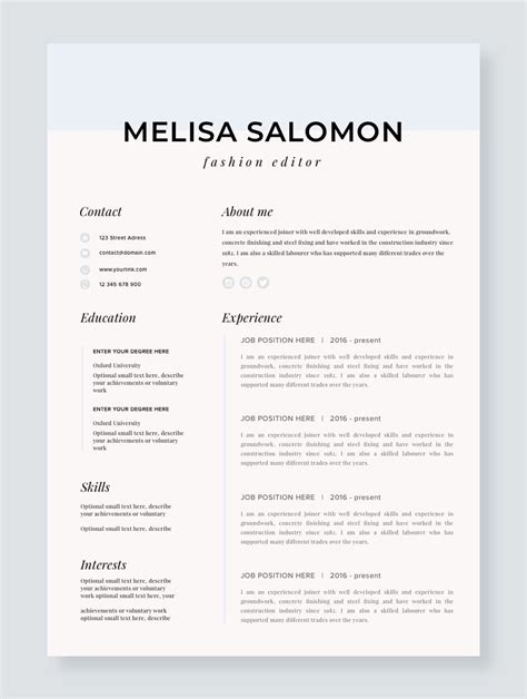 Resume Resume Template by Professional Resume Template For Mac Resume For Pages