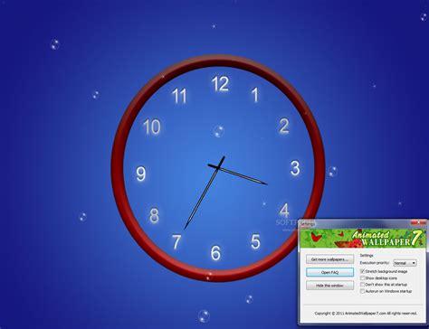 horloge bureau windows xp abstract clock wallpaper
