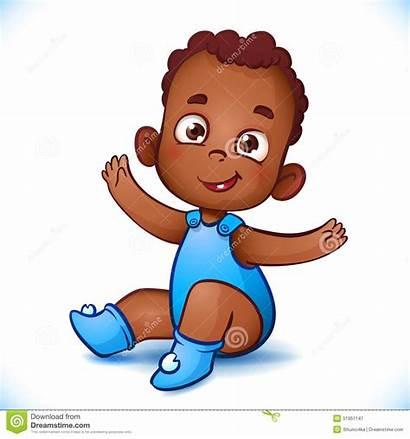 Boy African American Child Happy Cartoon Clipart