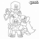 Coloring Steven Universe Pages Characters sketch template