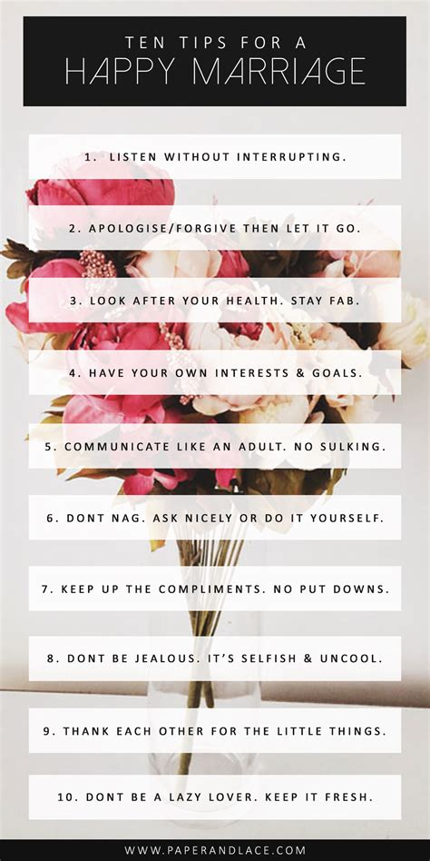 Want A Happy Marriage? 10 Quick Tips Every Woman Should Know » Paper + Lace