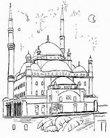 Coloring Masjid Pages Mosque Nabawi Template Printable Getcolorings Sketch sketch template