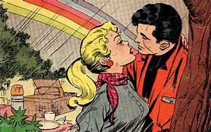 Rainbow love (Vintage Comic Wallpaper)
