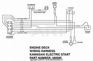 Scag Swz52a-17ka  S  N 8140001-8149999  Parts Diagram For Engine Deck Wiring Harness